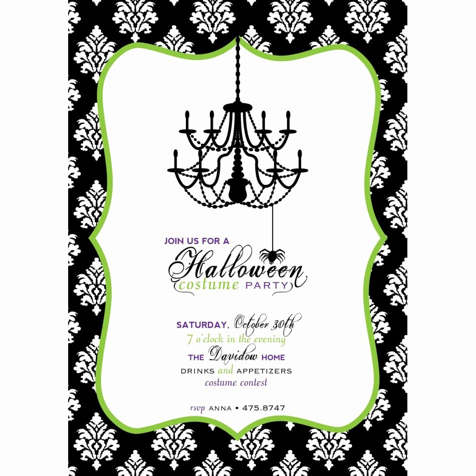 Halloween Party Invite Wording Template