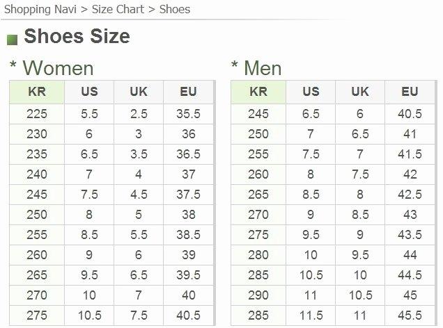H&m Shoe Size Chart