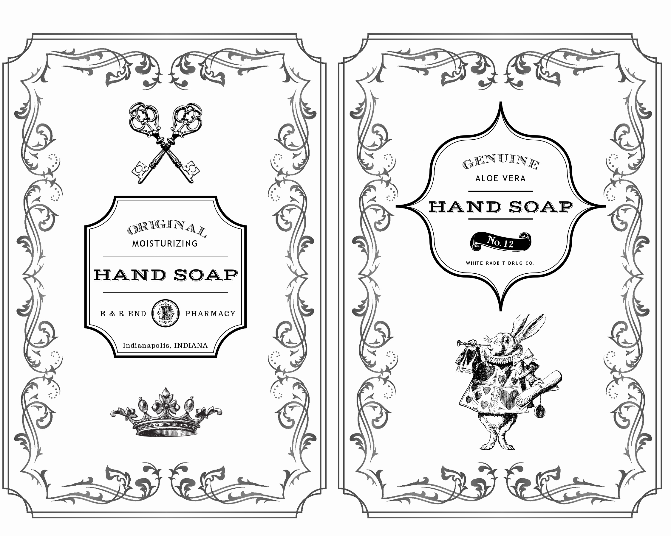 Hand soap Label Printables Rae Botsford End S Blograe