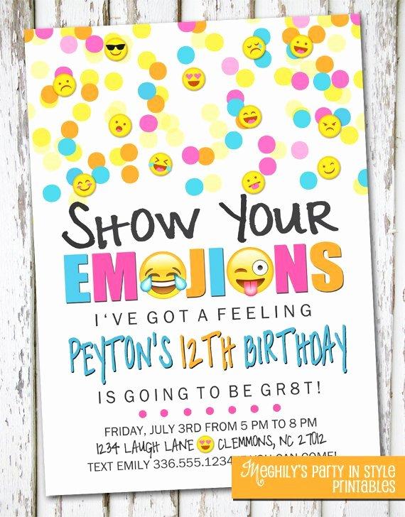 Handmade Emoji Invite Emoji Invite Emoji Invitation Emoji