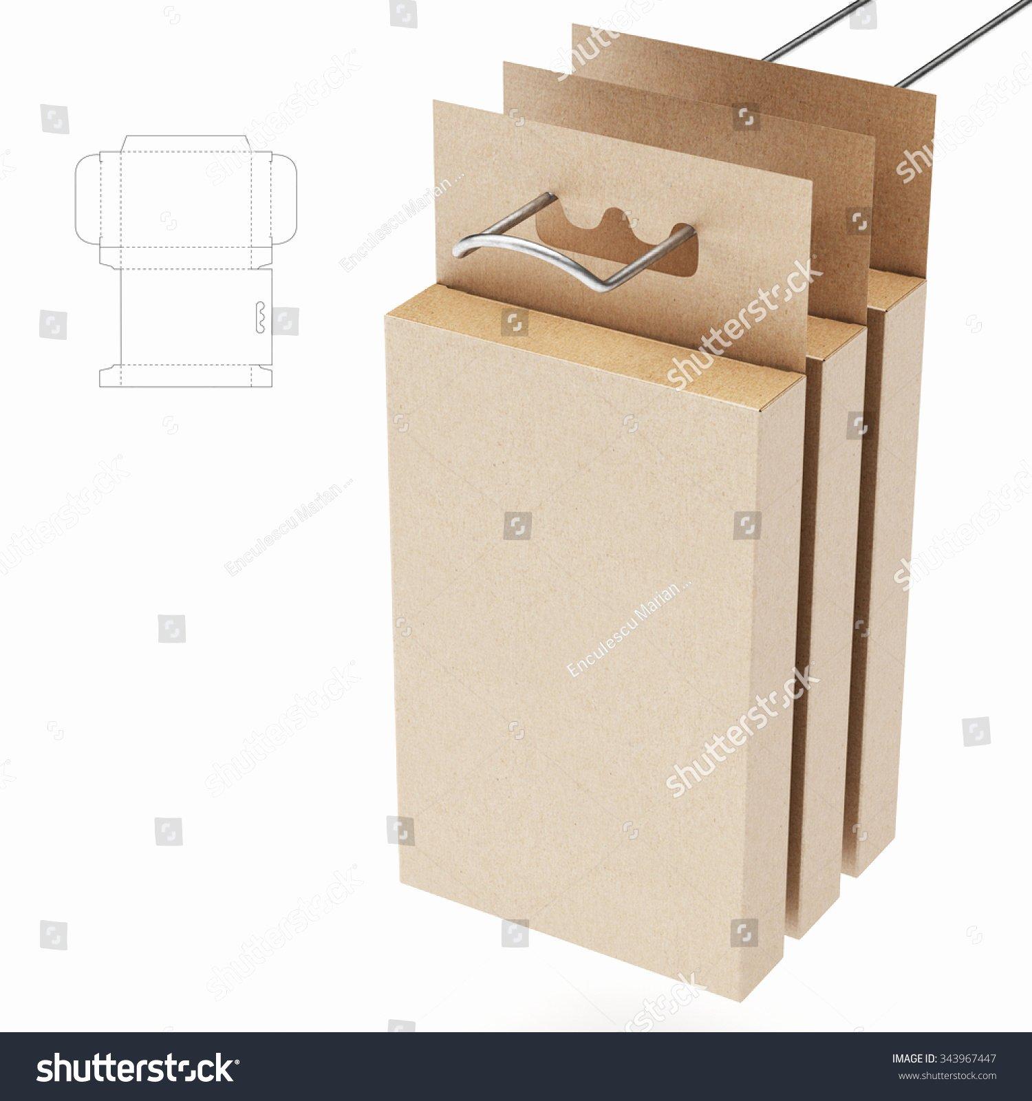 Hanging Retail Shelf Box Die Cut Stock Illustration