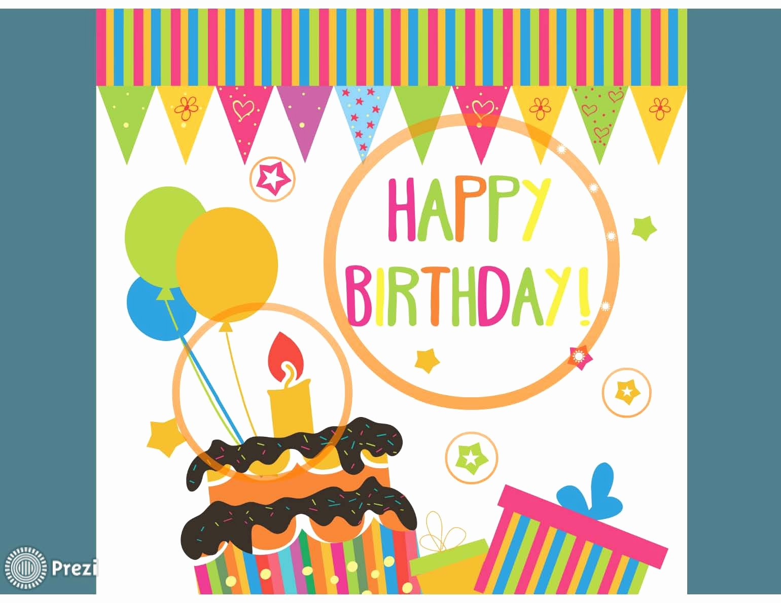 Happy Birthday 4 Prezi Premium Templates