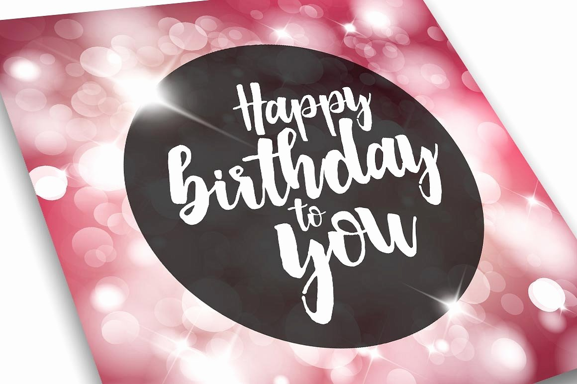 Happy Birthday Card Template Card Templates Creative