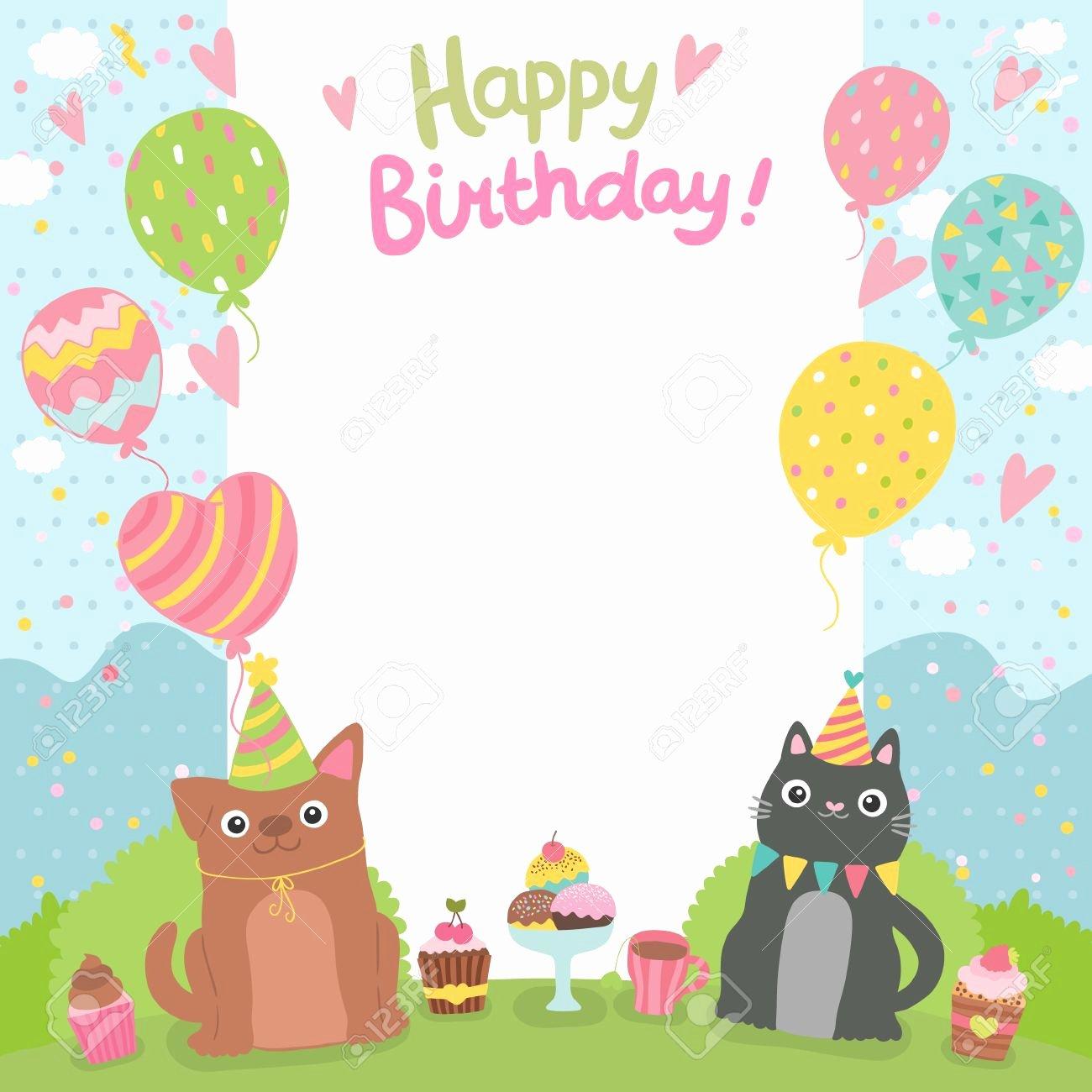 Happy Birthday Card Template Regarding Happy Birthday Card