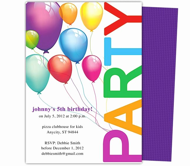Happy Birthday Invitation Templates