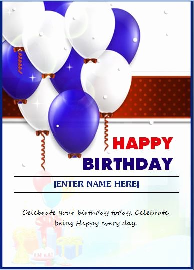 Happy Birthday Wishing Card – Word & Excel Templates