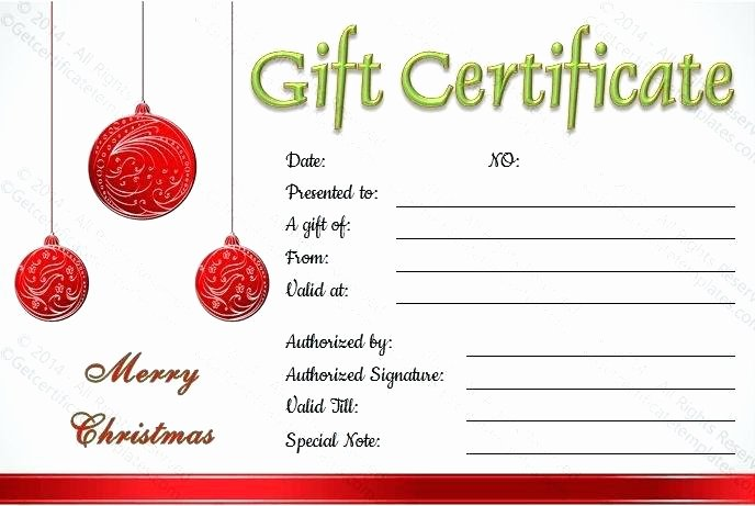 Happy Holidays Gift Certificate Template Hashtag Bg