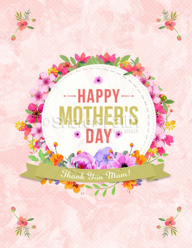 Happy Mother S Day Thank You Mom Flyer Template