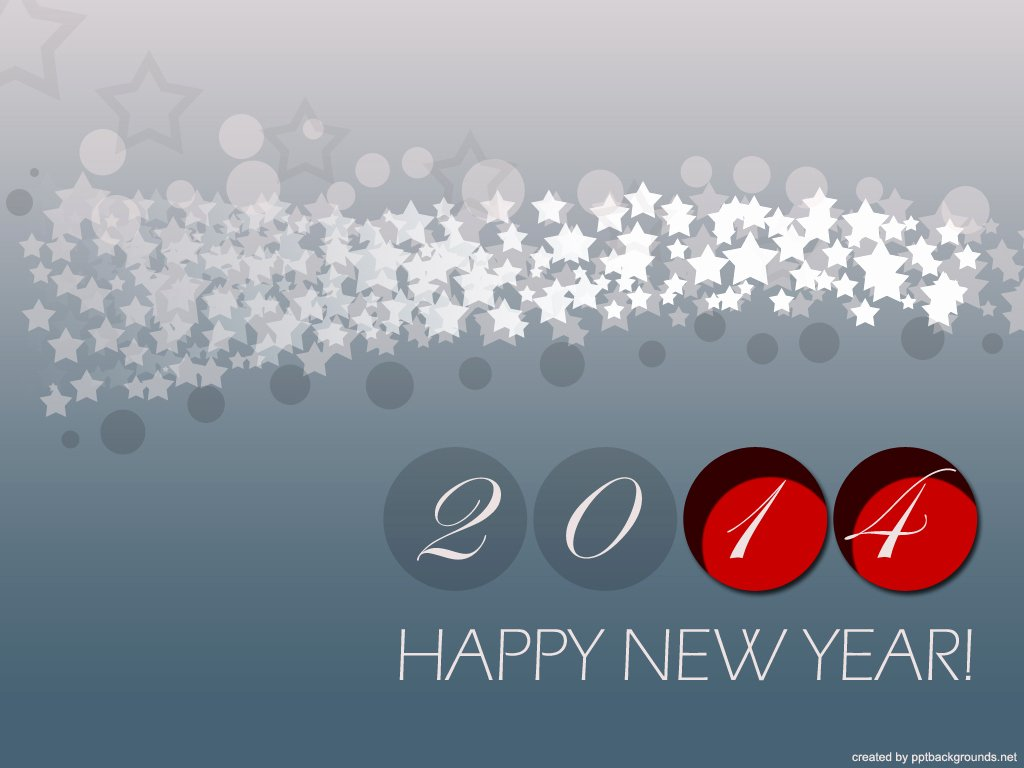 Happy New Year 2014 Backgrounds for Powerpoint Holiday