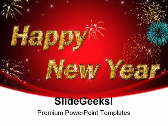Happy New Year Festival Powerpoint Template 1010