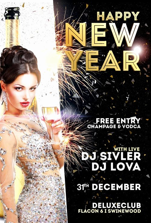 Happy New Year Flyer Template Vol 2