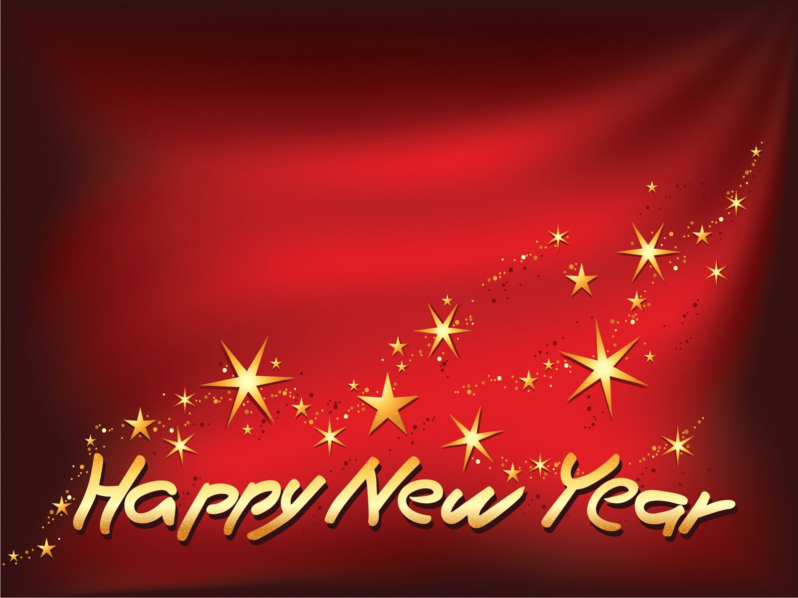 Happy New Year theme with Stars Powerpoint Templates