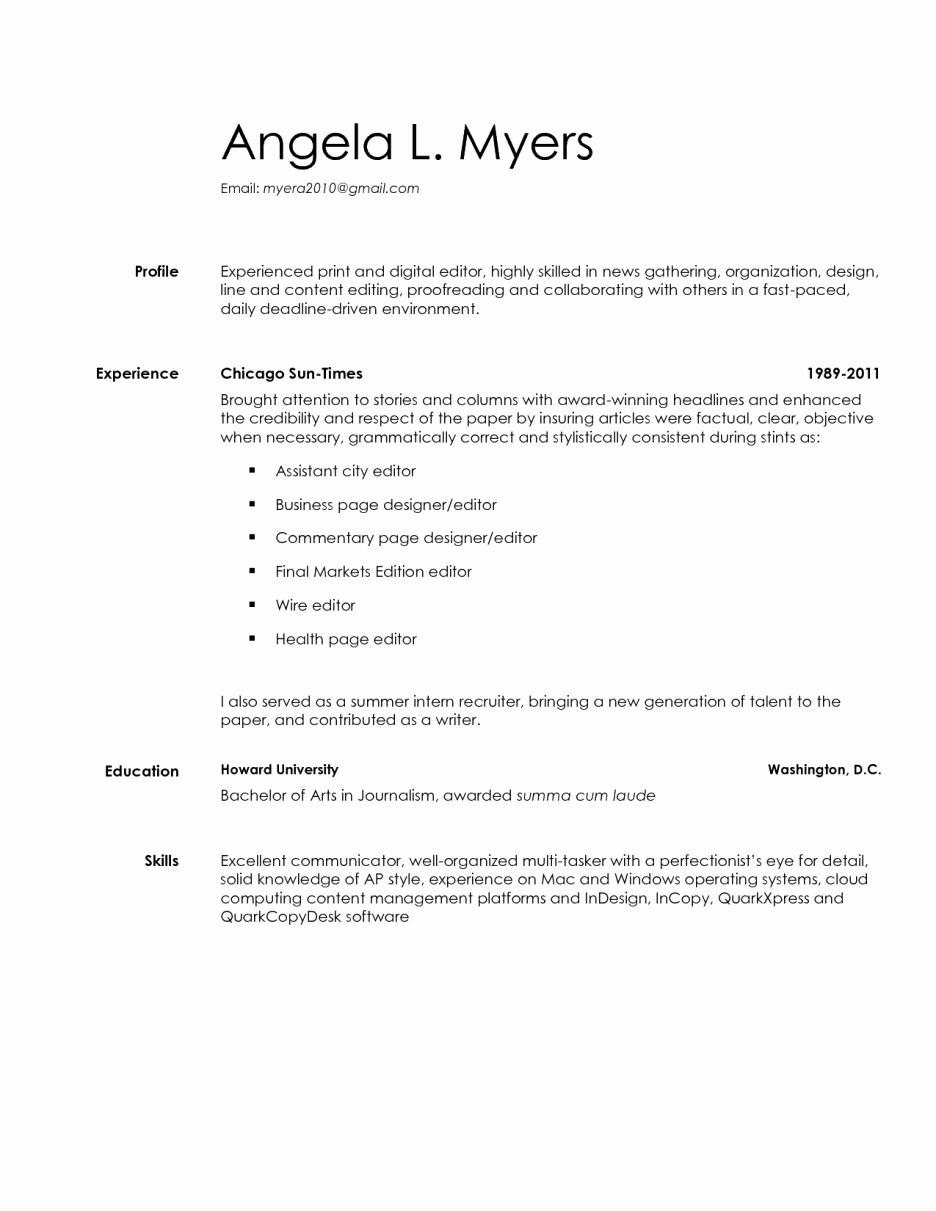 Hard Copy Resume