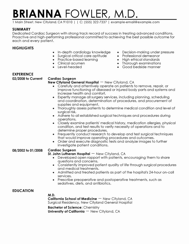 Harmacist Cv Example Resume Samples for In Hospital