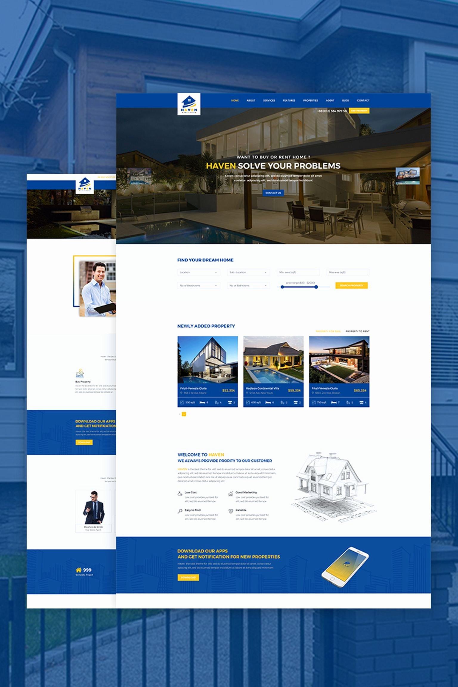 Haven Real Estate Website Template