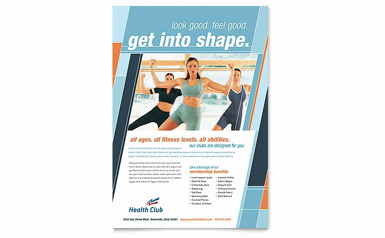 Health & Fitness Gym Flyer Template Word & Publisher
