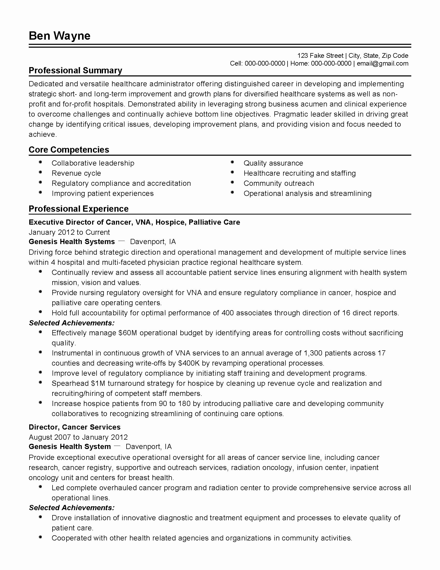 Health Benefits Administrator Resume Sidemcicek