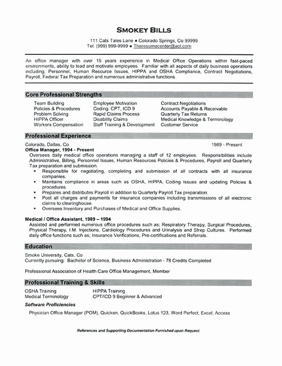 Health Care Administration Resume – Resume Tutorial Pro