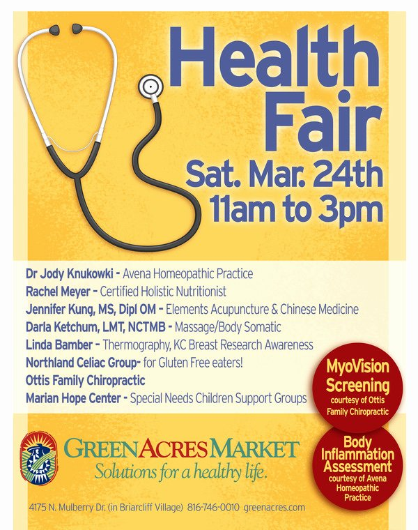 Health Fair at Green Acres Market