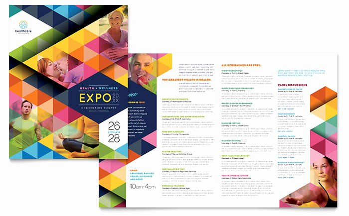 Health Fair Brochure Template Word & Publisher