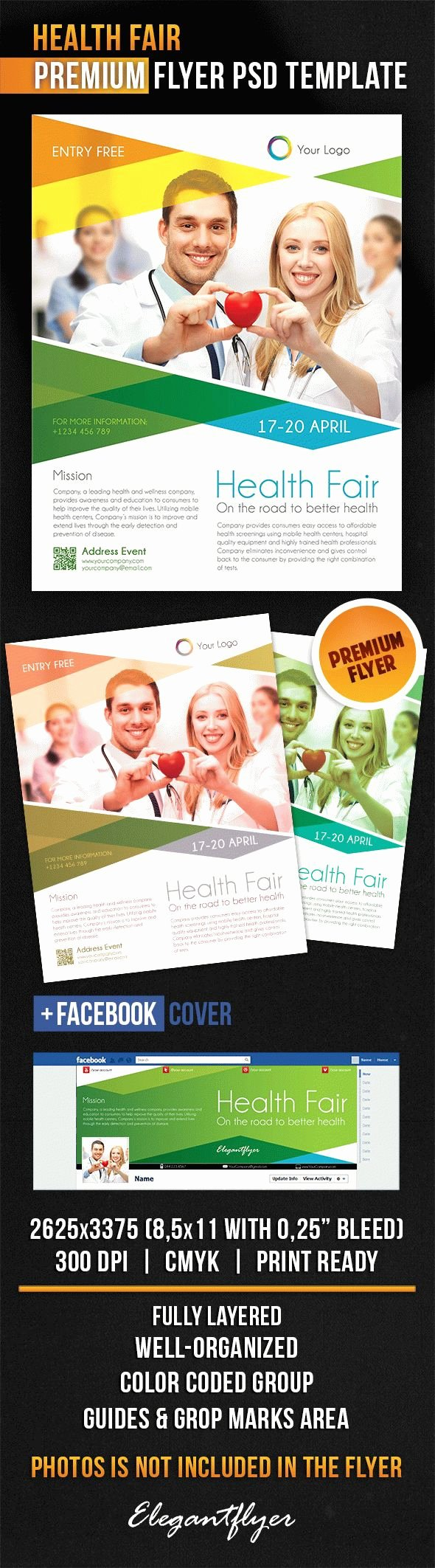 Health Fair – Flyer Psd Template – by Elegantflyer