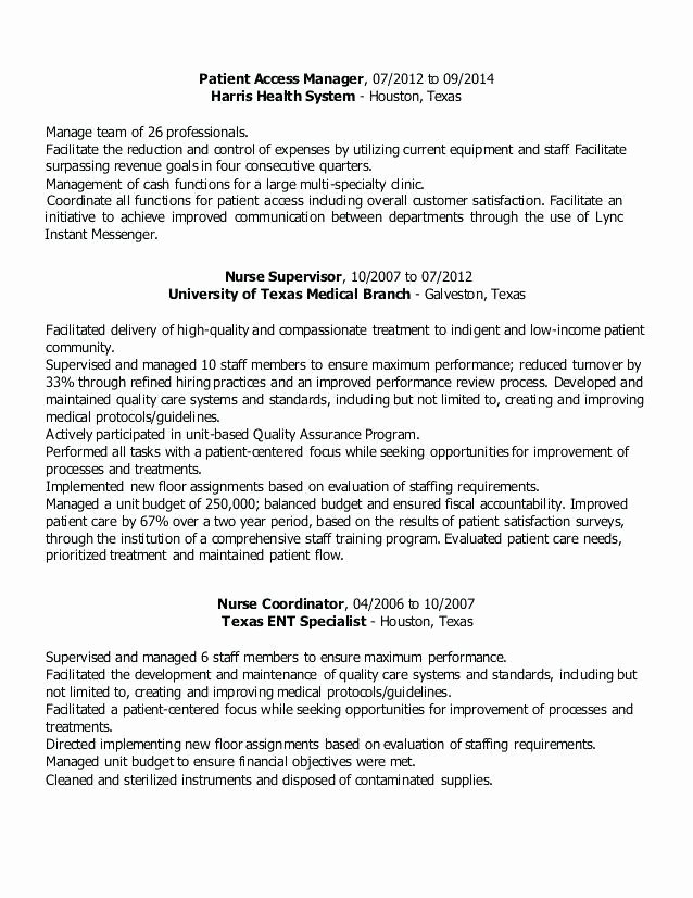 Health Services Coordinator Resume