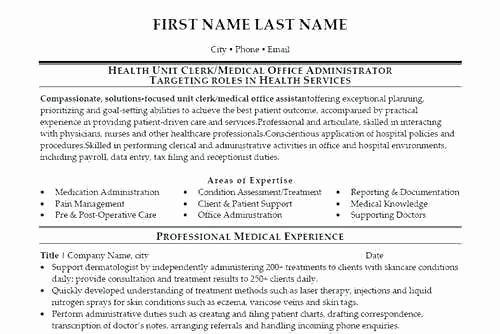 Health Services Coordinator Resume