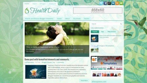 Healthdaily Blogger Template Btemplates