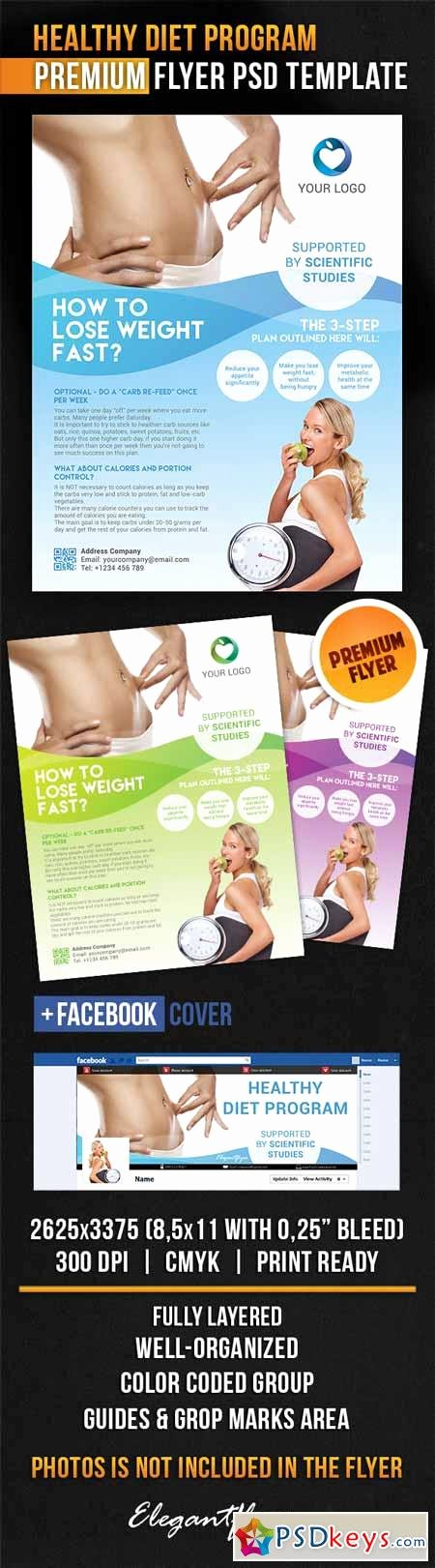 Healthy Diet Program – Flyer Psd Template Cover
