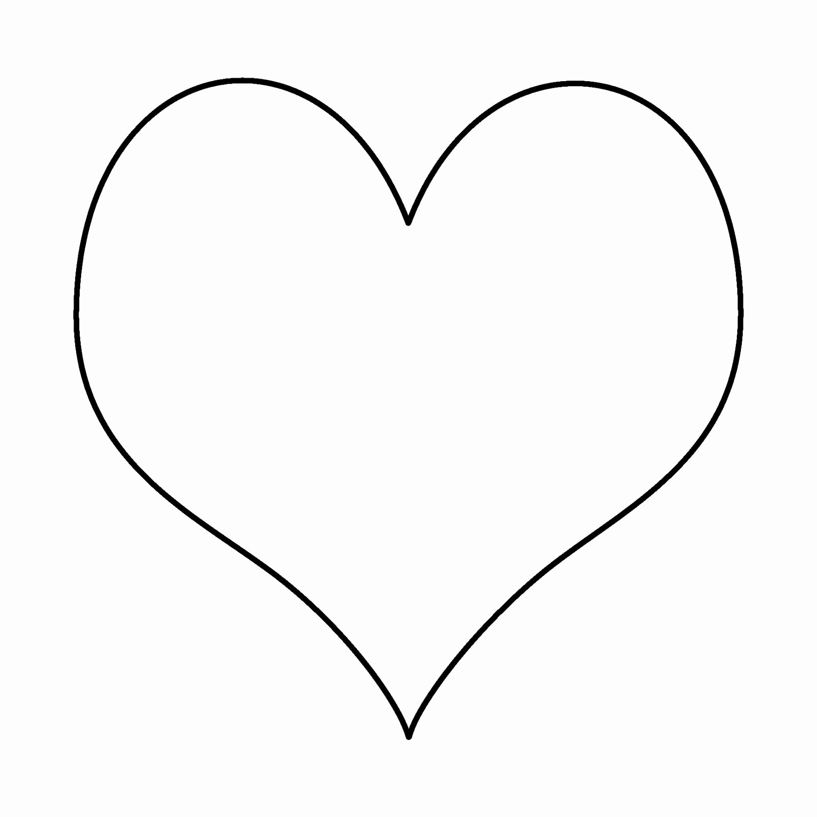 Heart Templates to Print Clipart Best