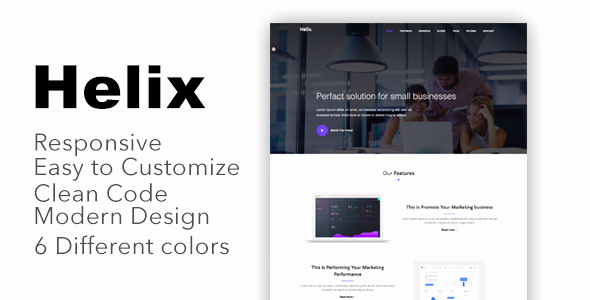 Helix – Responsive Bootstrap 4 Landing Page Template
