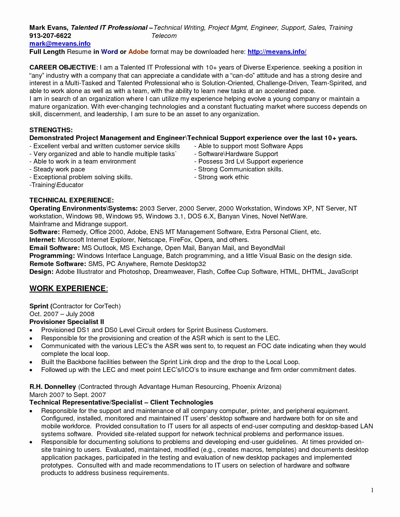 Help Desk Resume Entry Level Sidemcicek