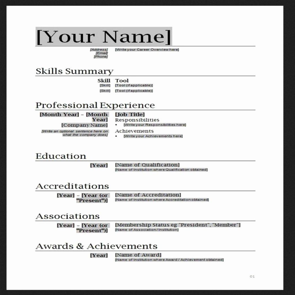 Help Make Resume Microsoft Word