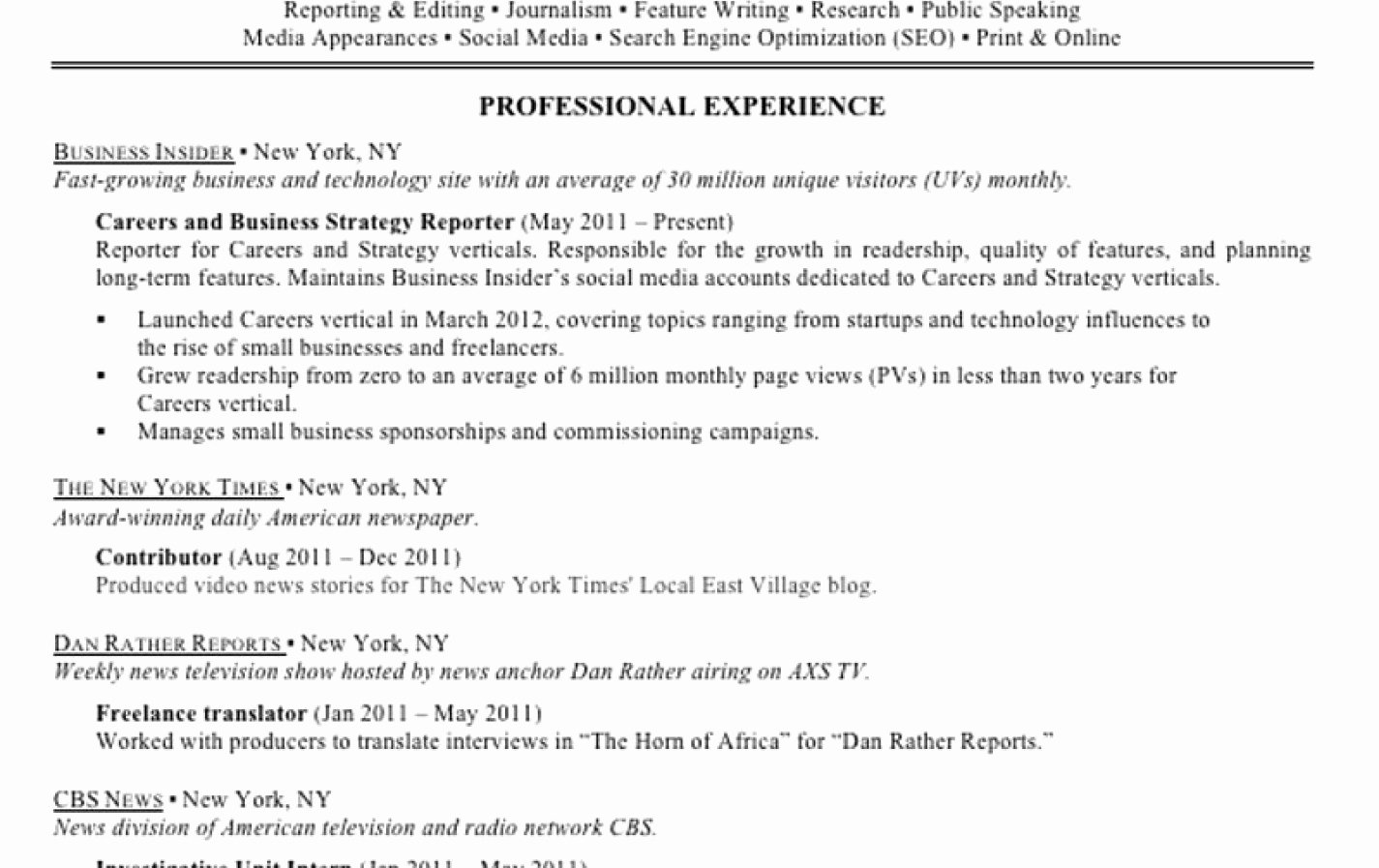 Help Me Make My Resume For Free