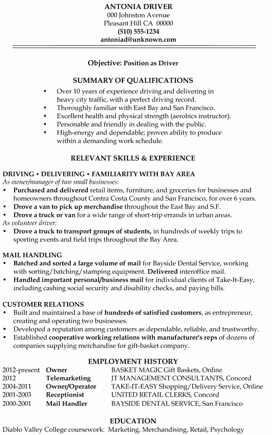 Help Writing A Functional Resume