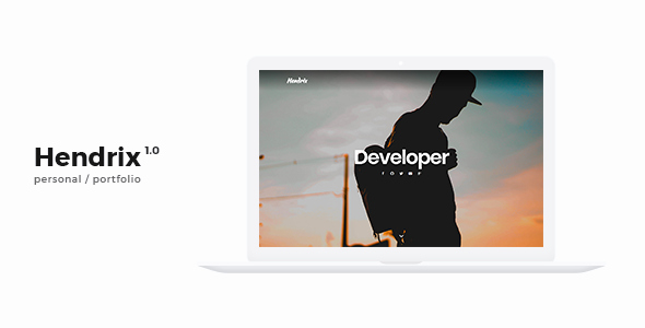 Hendrix – Personal Portfolio HTML Template