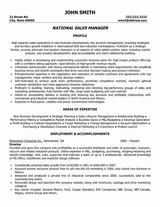 Here to Download This National Sales Manager Resume