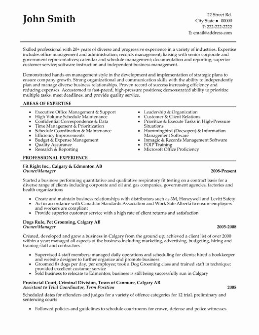 Here to Download This Owner or Manager Resume