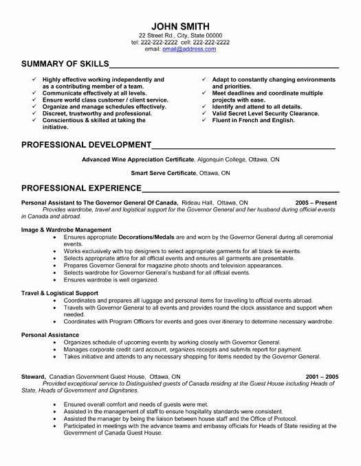 Here to Download This Personal assistant Resume