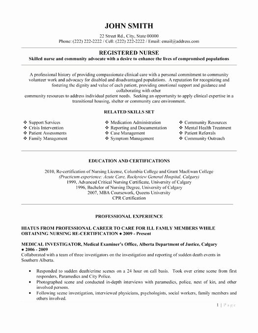 Here to Download This Registered Nurse Resume