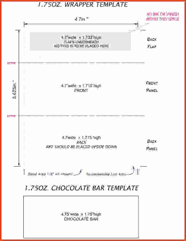 hershey bar wrapper template