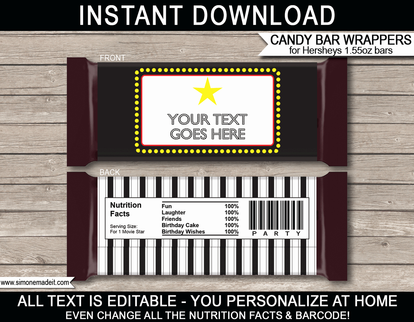 Hershey Candy Bar Wrapper Template Free Download Aashe