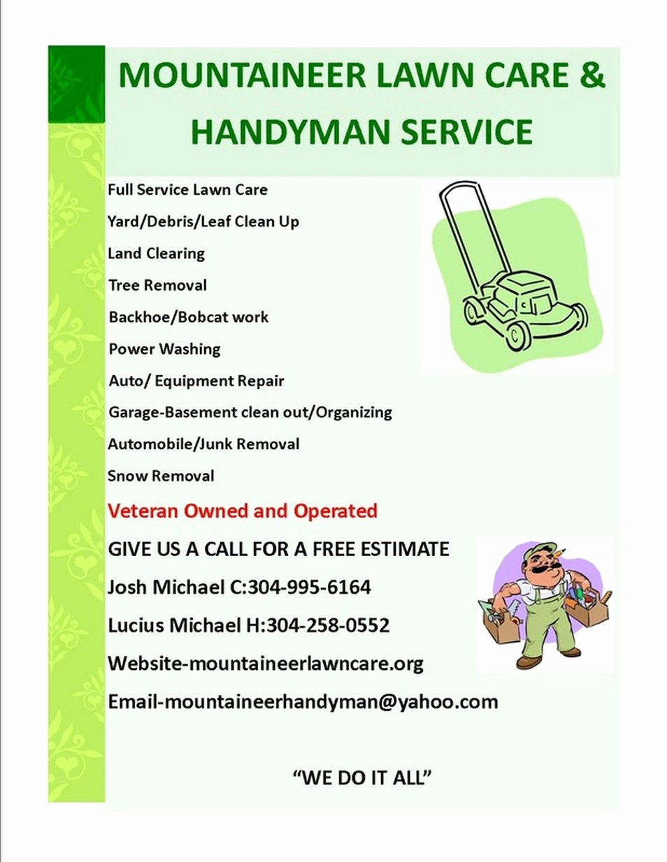 High Quality Lawn Care Flyer 2 Lawn Care Service Flyer