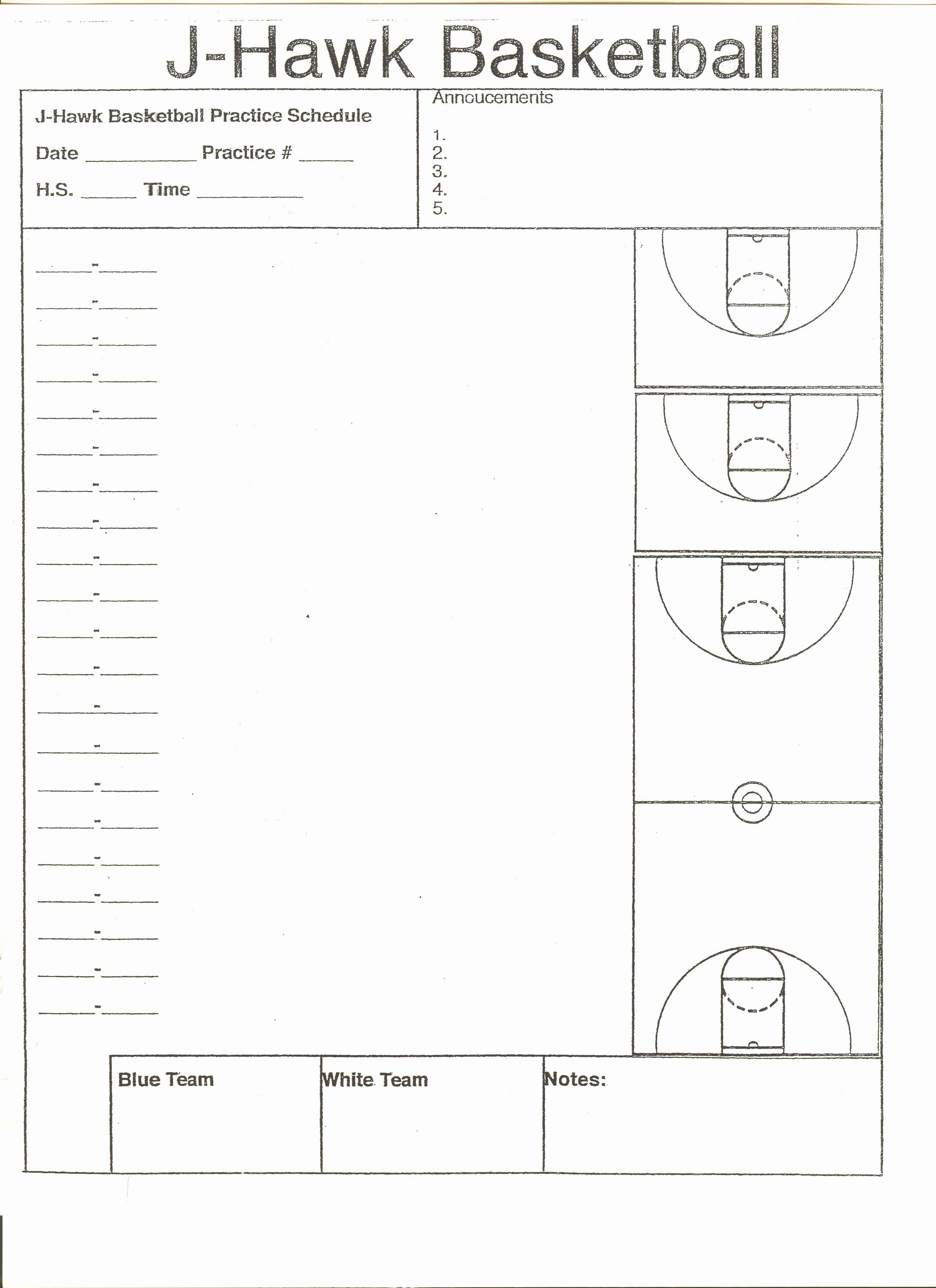 High School Basketball Practice Plan Template Good