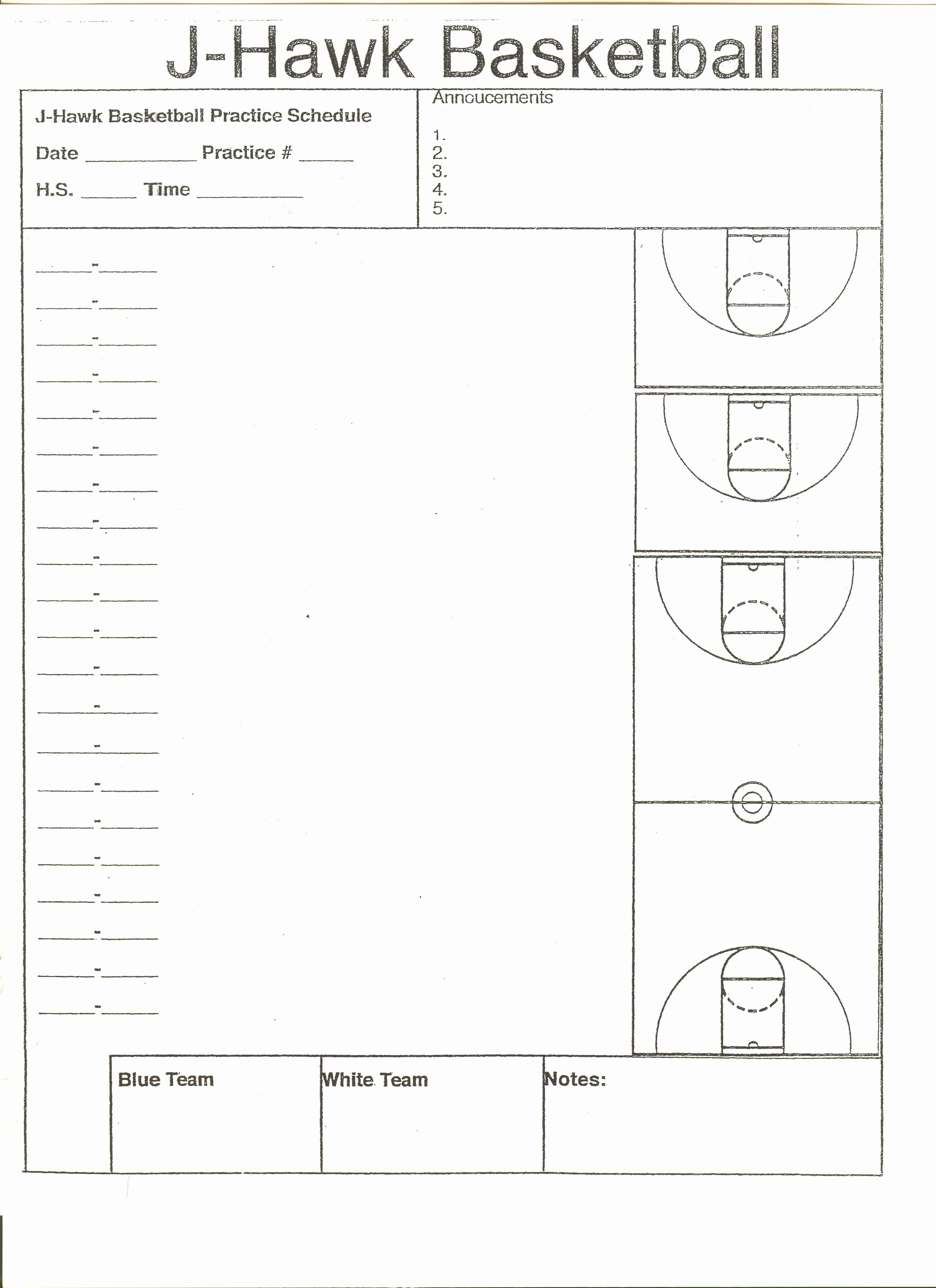 High School Basketball Practice Plan Template Good
