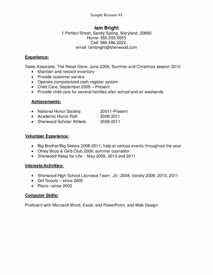 High School Graduate Resume Sample Best Resume Collection
