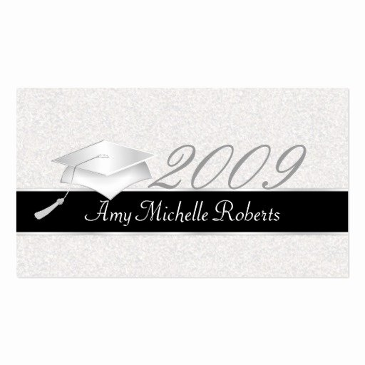 High School Graduation Name Cards 2009 Business Card
