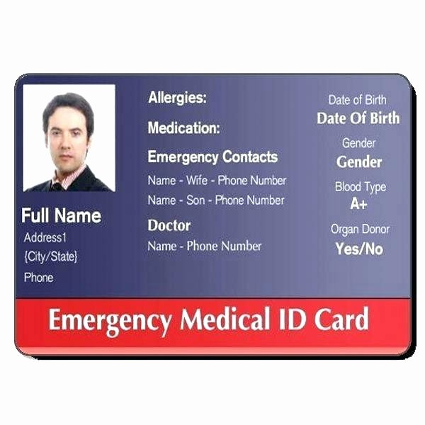 High School Id Card Template Sample Basic Imagine