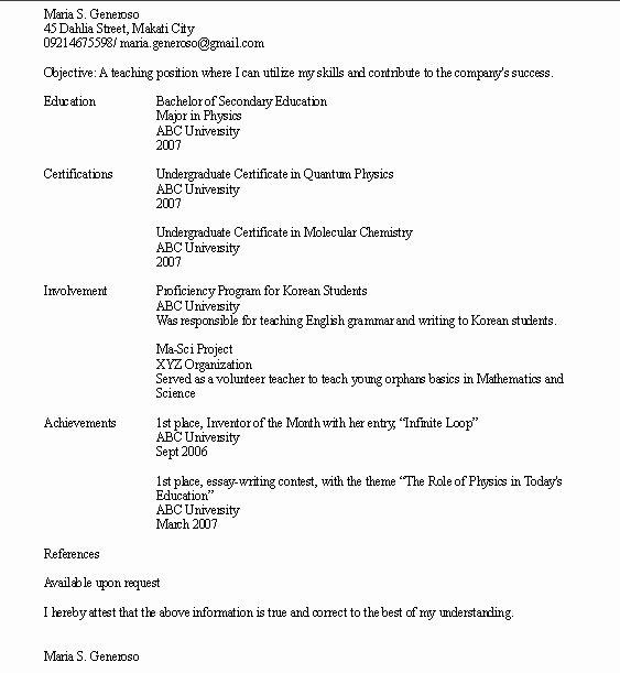 High School Resume No Work Experience How to Write A