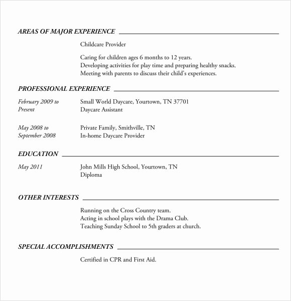 High School Resumes Templates Best Resume Collection
